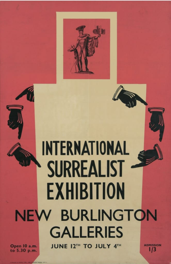 Max Ernst Poster for International Surrealist Exhibition, Burlington Galleries, London 1936 Colour Lithograph 76.2 x 50.8 cm The Murray Family Collection, UK & USA