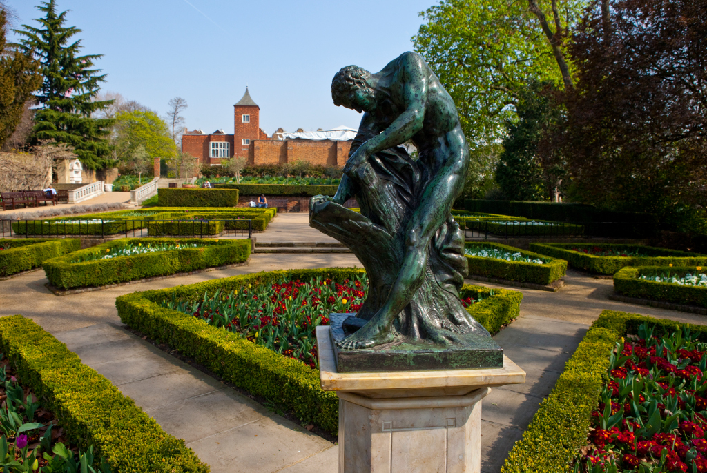 Statue of Milos of Croton in Holland Park