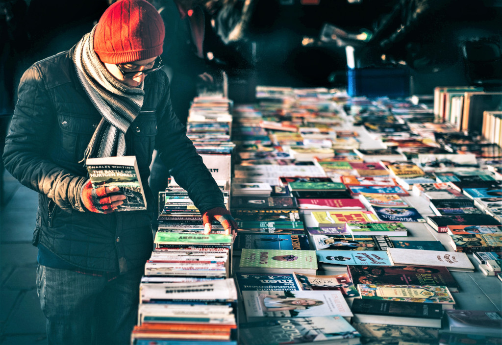 The second-hand book market at London Southbank. Photo Clem Onojeghuo / unsplash