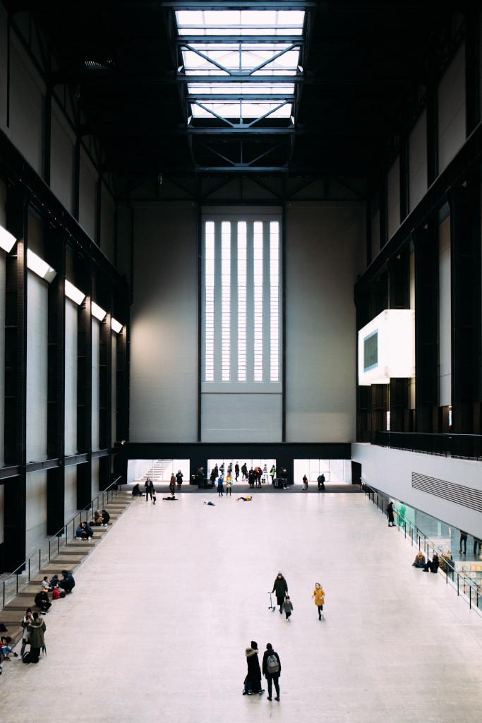 The turbine hall of the Tate Modern Southbank London walk