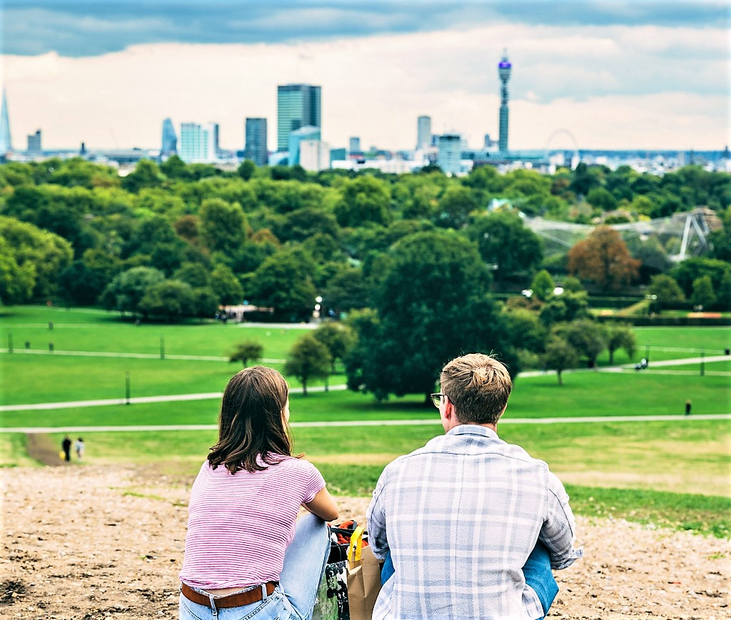 Arguably the best view in London - from Primrose Hill