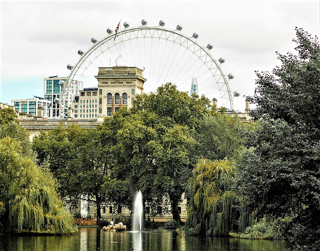 St James's Park with the London Eye in the background