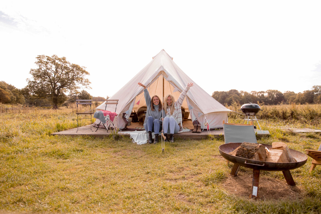 A Home Farm Glamping bell tent