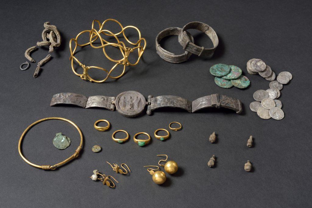 The Fenwick Treasure.©Colchester Museums. Image Credit Douglas Atfield