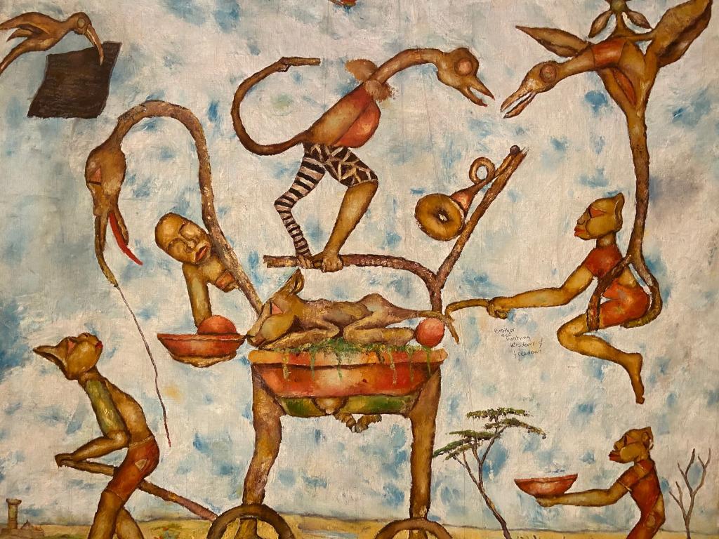 Meek Gichugu, Untitled (Brother Wise Hooking Wisdom & Freedom), c.1992. Banana Hill Art Gallery © The artist. Photo: Maximilian Geuter.