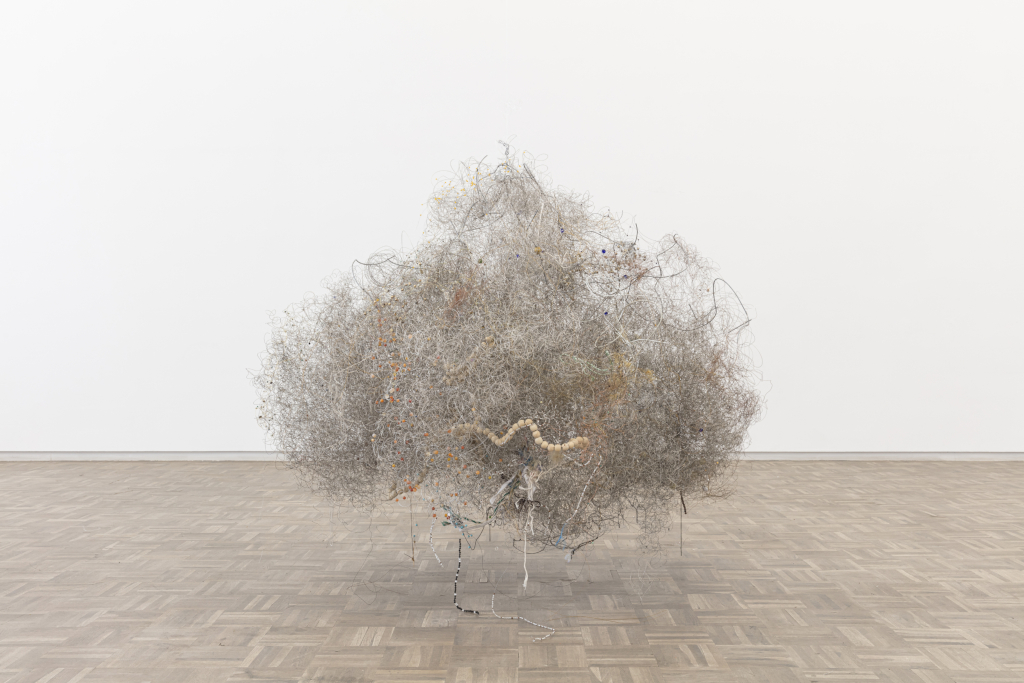 Kicking Dust Igshaan Adams, Cloud V, 2019. Wire, beads and mixed media 112 x 173 x 128cm ©Igshaan Adams Courtesy of the artist and Blank Projects, Cape Town