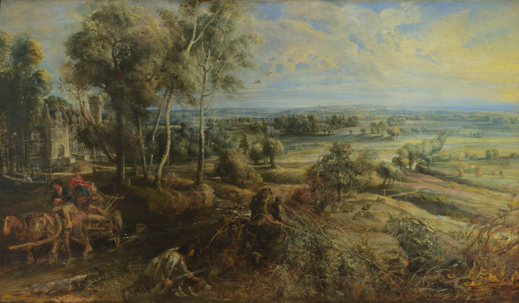 Art in the City Peter Paul Rubens, An Autumn Landscape with a View of Het Steen in the Early Morning, pre-restoration, probably 1636 © The National Gallery, London