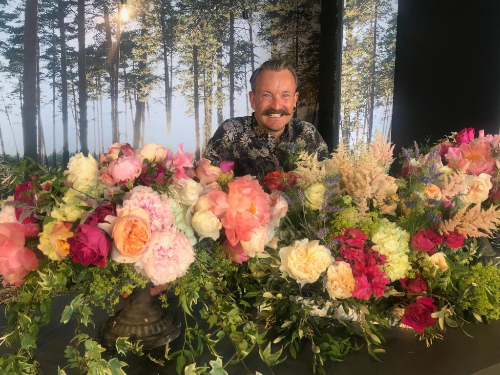 Floral designer Simon Lycett: a shrinking violet