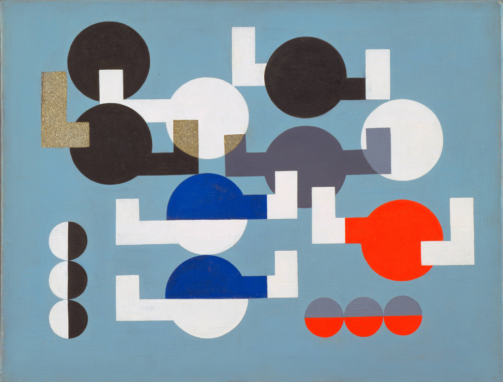 Composition of Circles and Overlapping Angles 1930 The Museum of Modern Art, New York. The Riklis Collection of McCrory Corporation. Photo: The Museum of Modern Art, Department of Imaging and Visual Resources. © 2019 Artists Rights Society (ARS), New York / VG Bild-Kunst, Bonn