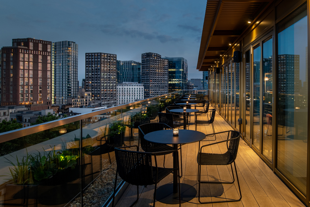 Hyatt Place London City East - views from Pocketsquare Skyline Bar and Terrace