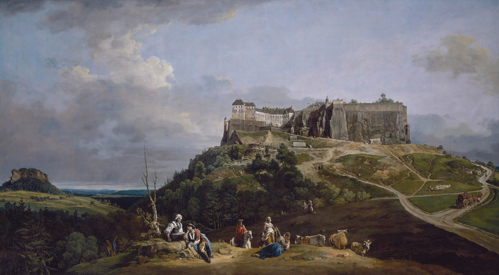 The Fortress of Königstein from the North-West, about 1756-8