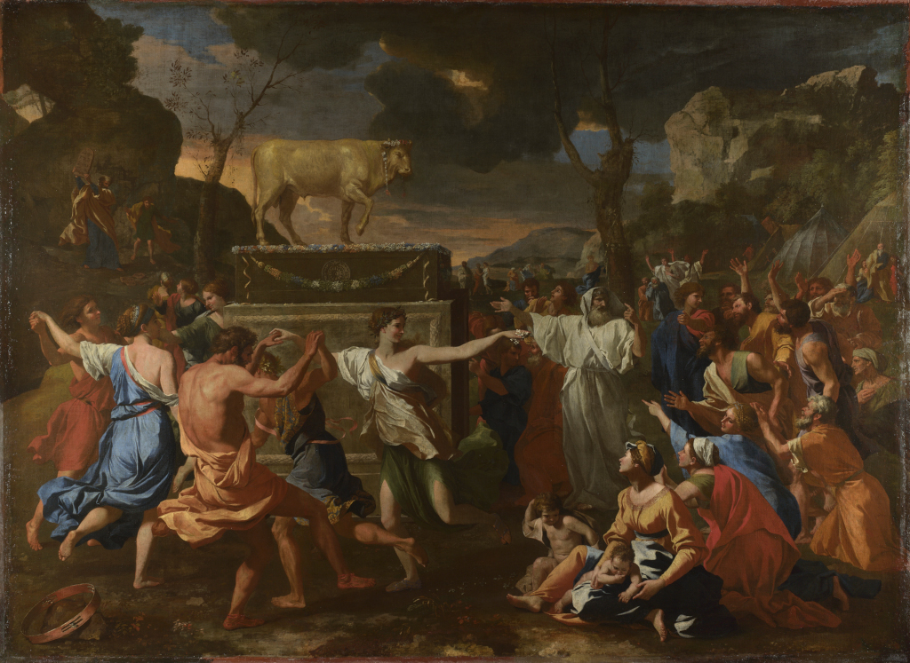The Adoration of the Golden Calf Nicolas Poussin 1633-4 The National Gallery London