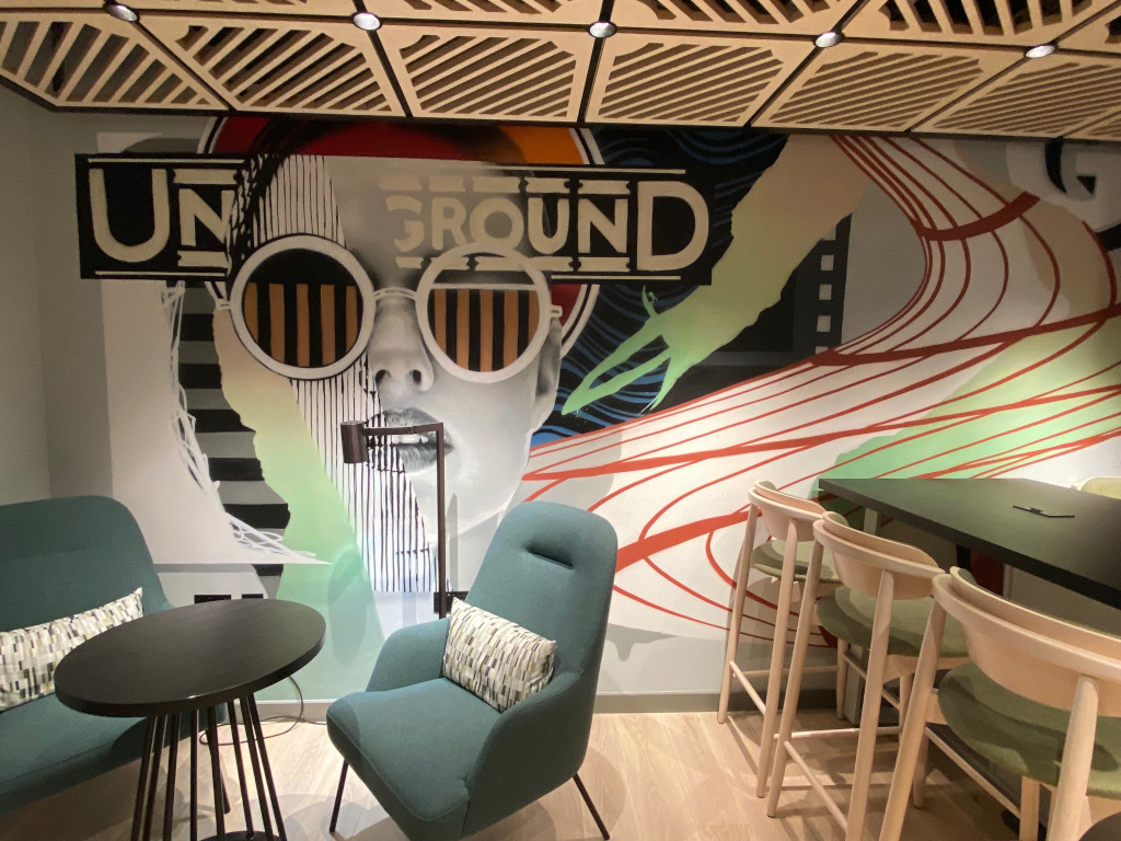 Jay Kaeshas created a London Underground inspired mural