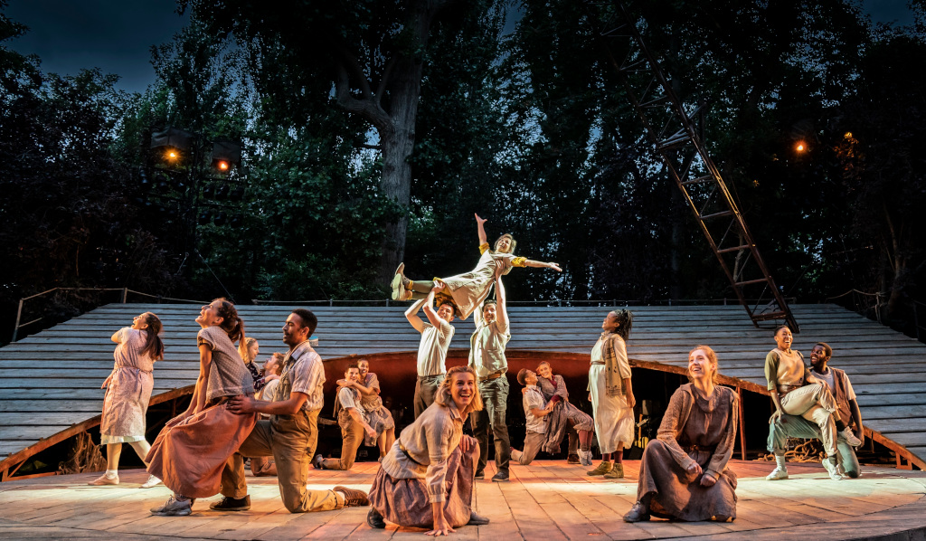 Joanna Riding and the Company of Carousel in June is Bustin' Out at Regent's Park Open Air Theatre. Photo by Johan Persson.